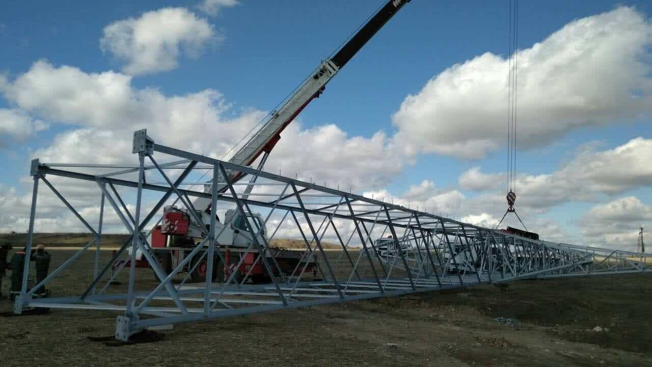 Сonstruction of 154kV double-circuit Wind Line Section - Nikopol - Solar Farm 1: No. 1 and No. 2.